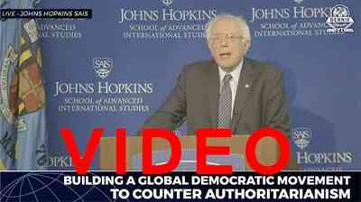 Bernie Sanders:Building A Global Democratic Movement to Counter Authoritarianism
