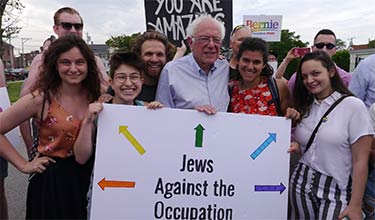 Jews against the occupation with Bernie Sanders